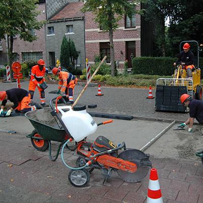 Aralea - verhardingen - aanleg voetpaden - innovatie